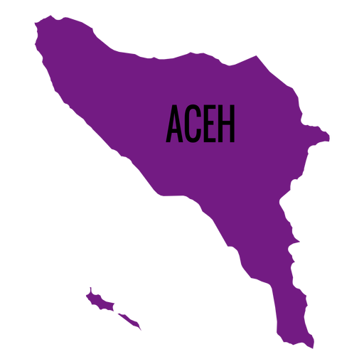Aceh province map Transparent PNG