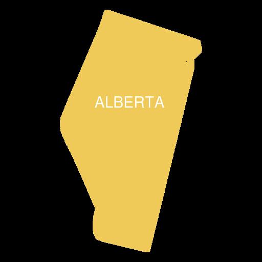 Alberta province map Transparent PNG