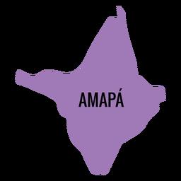 Amapa state map