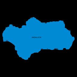 Mapa da comunidade autónoma da Andaluzia