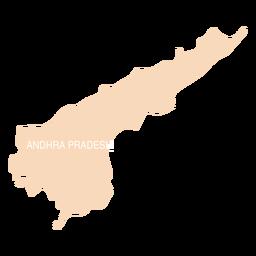 Andhra pradesh state map