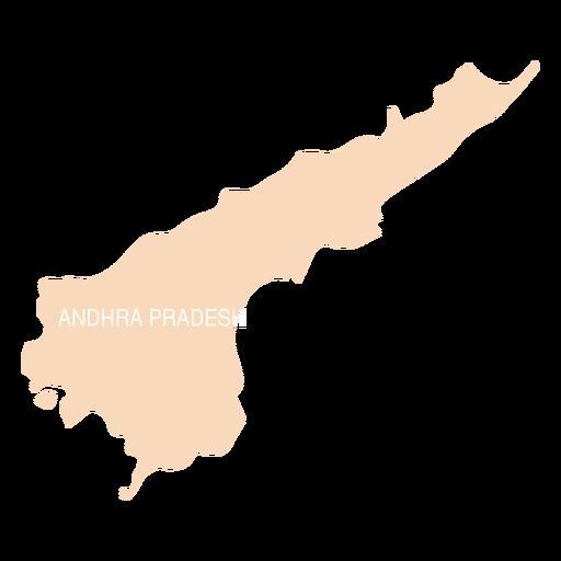 Andhra pradesh state map - Transparent PNG & SVG vector