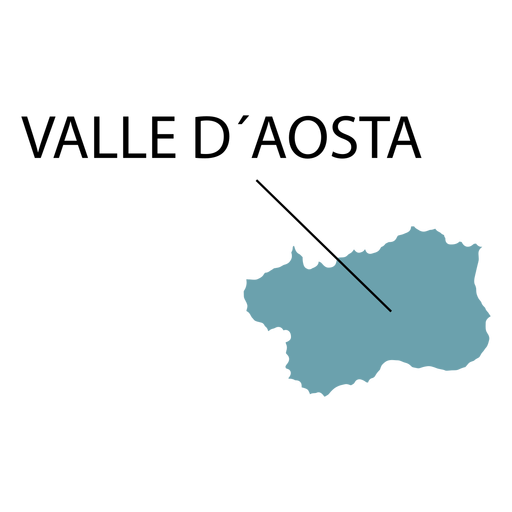 Aosta valley region map Transparent PNG