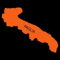 Mapa da região da Apúlia