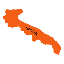 Mapa de la región de apulia