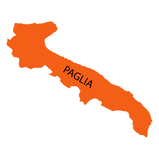 Apulia region map Transparent PNG