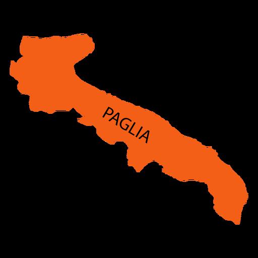 Mapa da região da Apúlia Transparent PNG