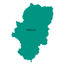 Aragon autonomous community map