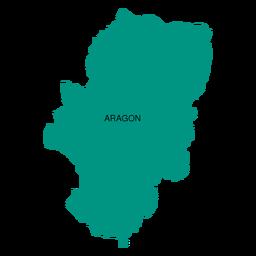 Mapa da comunidade autônoma de Aragão