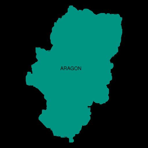 Mapa da comunidade autônoma de Aragão Transparent PNG