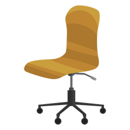 Armless office chair clipart
