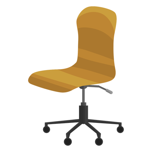 Armless office chair clipart Transparent PNG