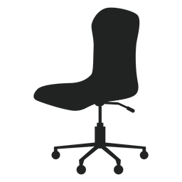 Armless office chair flat icon
