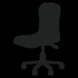 Ícone plana de cadeira de escritório sem braços