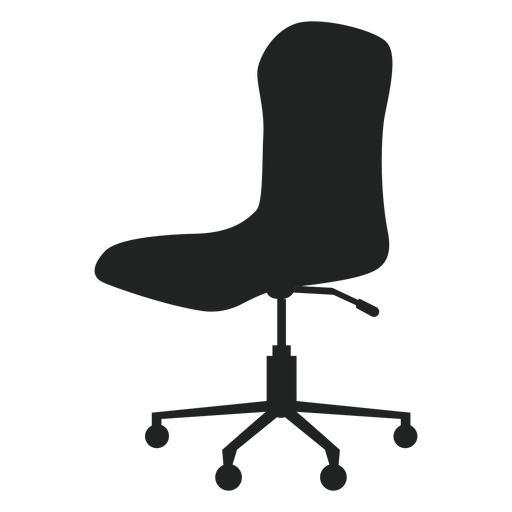 Armless office chair flat icon Transparent PNG