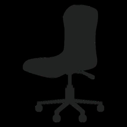 Icono plano de silla de oficina sin brazos Transparent PNG
