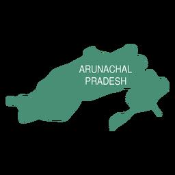Arunachal pradesh state map