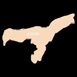 Assam state map