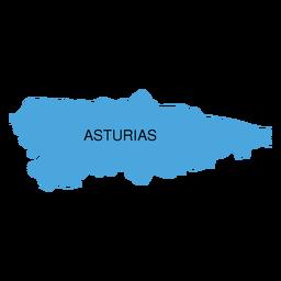 Mapa da comunidade autônoma das Astúrias