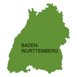 Baden wurttemberg state map