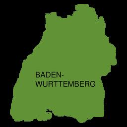 Mapa del estado de Baden Wurttemberg
