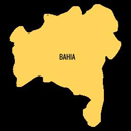 Mapa del estado de bahia