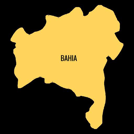 Bahia state map Transparent PNG