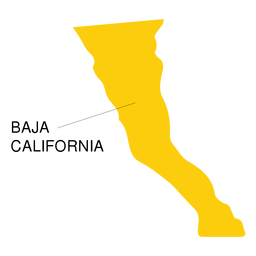 Baja california state map