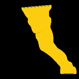 Mapa do estado de Baja california