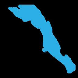 Mapa del estado de baja california sur