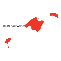 Balearic islands autonomous community map