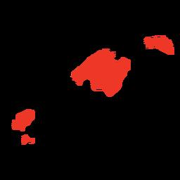 Mapa de las comunidades autónomas de las islas baleares.