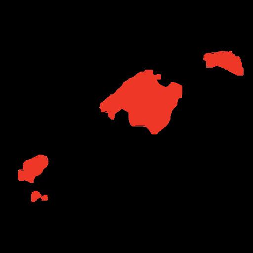 Mapa da comunidade autónoma das Ilhas Baleares Transparent PNG
