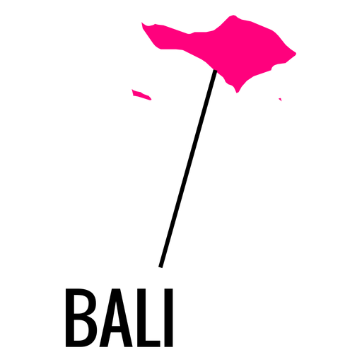Bali province map Transparent PNG