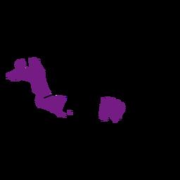 Mapa da província de Bangka belitung