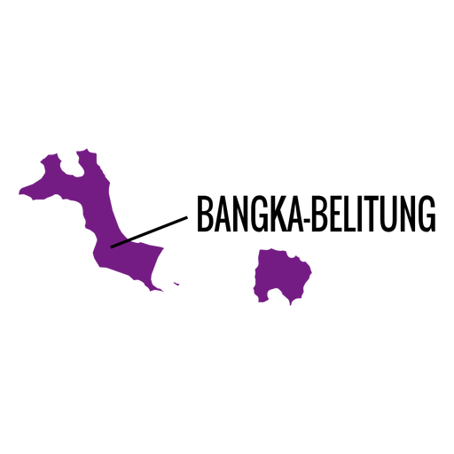 Bangka belitung province map Transparent PNG