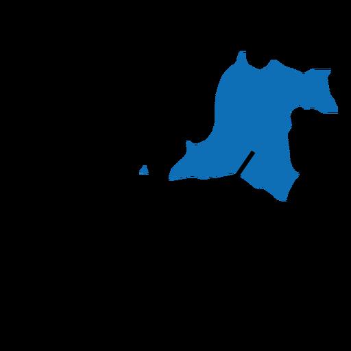 Banten province map - Transparent PNG & SVG vector