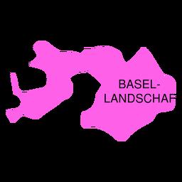 Basiléia landschaft canton map