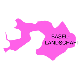 Mapa del cantón de Basel landchaft