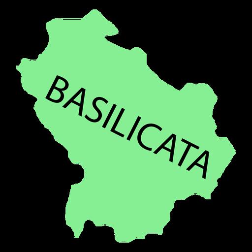 Mapa de la región de Basilicata Transparent PNG