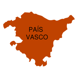 Basque country autonomous community map