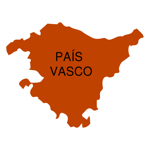 Basque country autonomous community map Transparent PNG