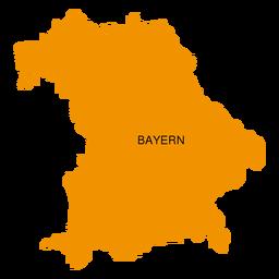 Mapa del estado de Bayern