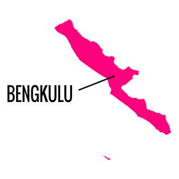 Mapa da província de Bengkulu