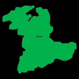Mapa del cantón de Berna
