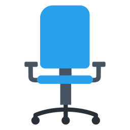 Blue office chair clipart