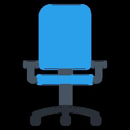 Silla de oficina azul clipart
