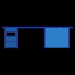Blaue Schreibtischsymbol