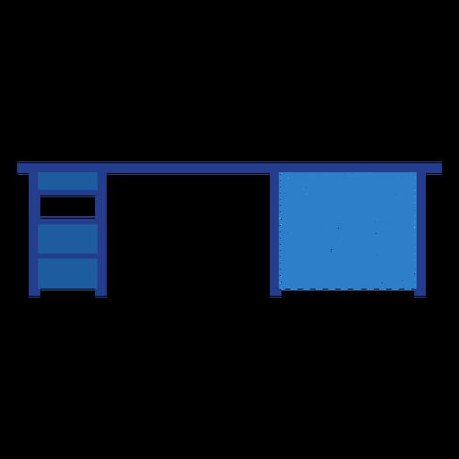 Blue office desk icon Transparent PNG