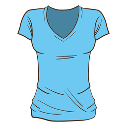 Blue women t shirt cartoon